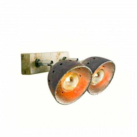 Toscot Noceto lámpara con 2 luces direccionales hecha en Toscana