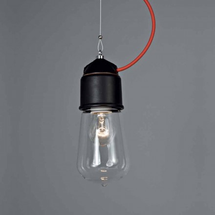 Toscot Novecento lámpara de suspensión con roseta hecha en Toscana