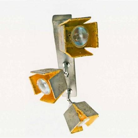 Toscot Piastra lámpara con 3 luces direccionales hecha en Toscana