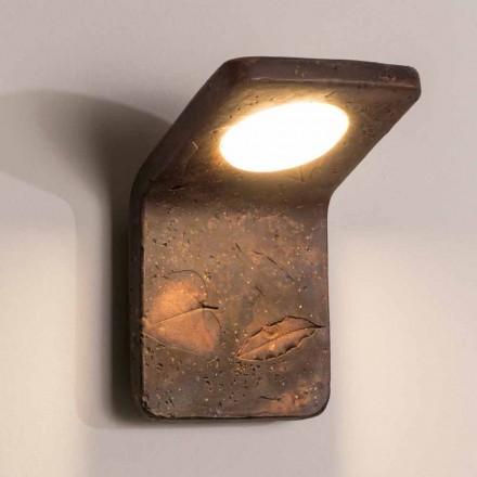 Lámpara de pared hecha a mano de terracota Toscot Vivaldi en Italia