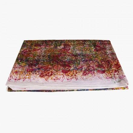 Mantel de algodón hecho a mano Estampado a mano Pieza única - Viadurini by Marchi