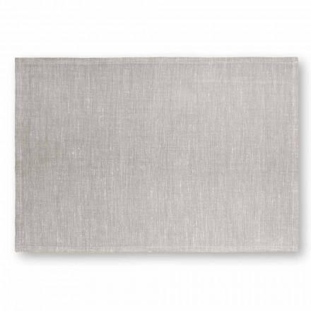 Mantel individual en blanco crema o lino natural hecho en Italia - Blessy