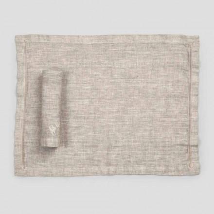 Manteles individuales americanos y servilletas de lino para el desayuno 2 piezas - Maccanone
