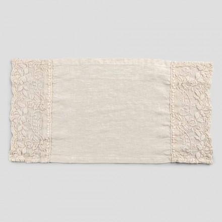 Manteles individuales de desayuno de diseño americano en lino con bordado 2 piezas - Vippelino