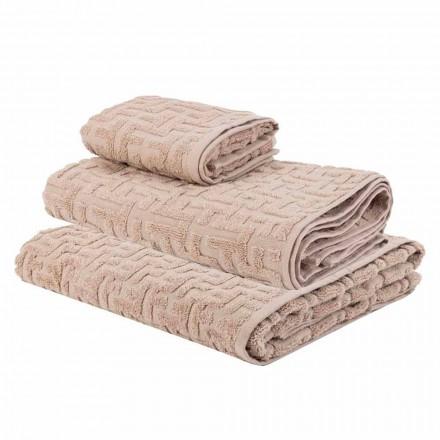 Trío de Toallas de Baño en Terry Cotton Towel, Face and Guest - Ginestra