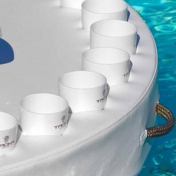 Trona barra flotante de diseño de imitación de cuero y metacrilato de navegación
