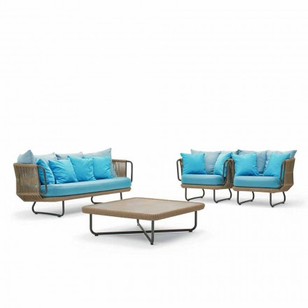 Salón jardín Varaschin Babylon, sofá, 2 sillones y 1 mesa de café