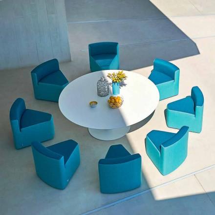 Mesa de jardín Varaschin Big In & Out + 8 sillones de diseño moderno