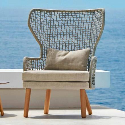Sillón de exterior tapizado de diseño moderno Emma by Varaschin
