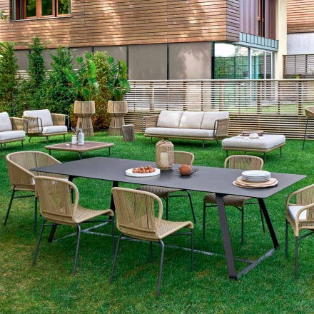 Varaschin Kolonaki Mesa de jardín moderna en diferentes tamaños