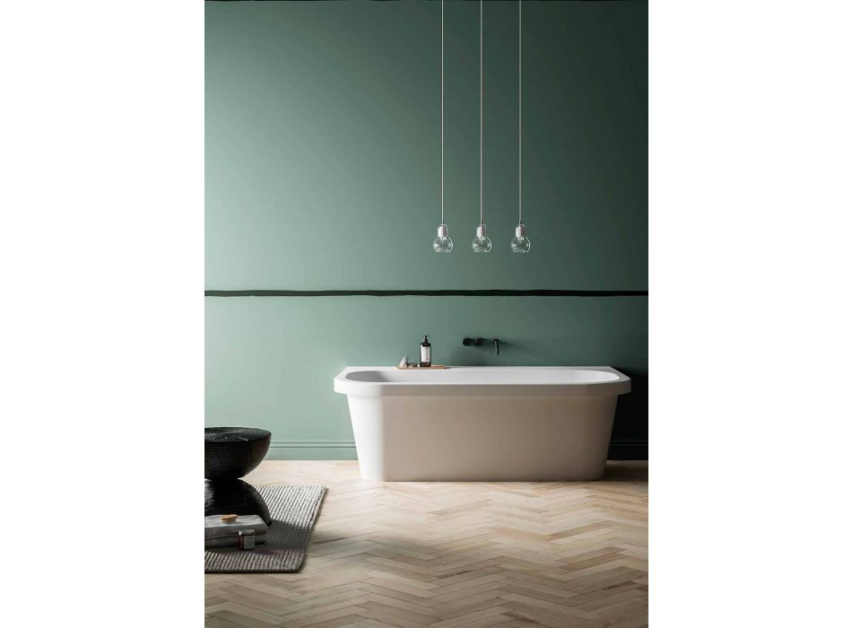 Bañera independiente, brillante / mate, blanca y fabricada en Italia - Margex
