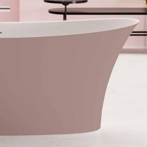 Bañera independiente de dos tonos, diseño de superficie sólida - Aspecto