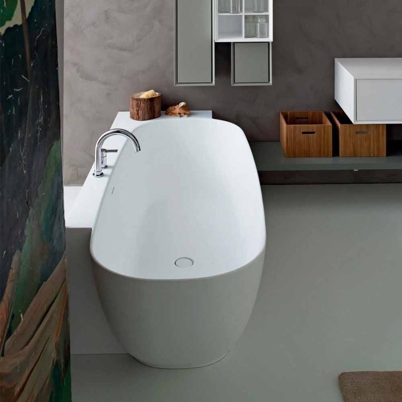 Bañera independiente de diseño blanco de estilo moderno - Lipperiavas1
