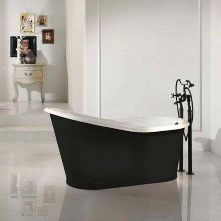 diseño de baño independiente de hierro fundido Viejo
