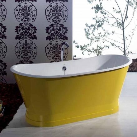 Bañera de hierro fundido de colores independiente diseño moderno Betty