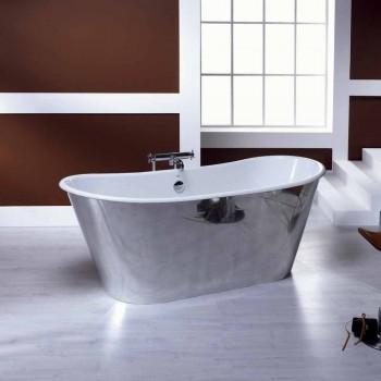 Bañera independiente chapado en aluminio fundido Ida