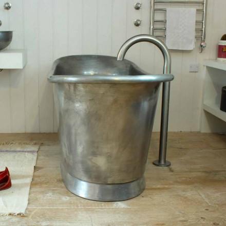 Bañera independiente baño de cobre acabado en hierro blanco Julia
