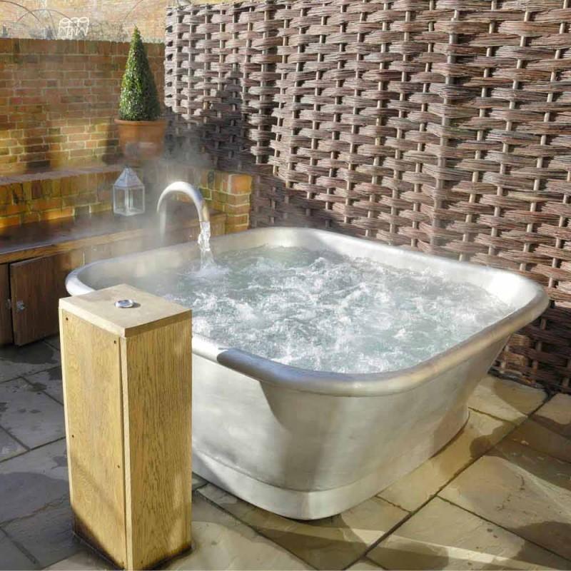 Bañera independiente de cobre recubierto de hierro blanco Annie