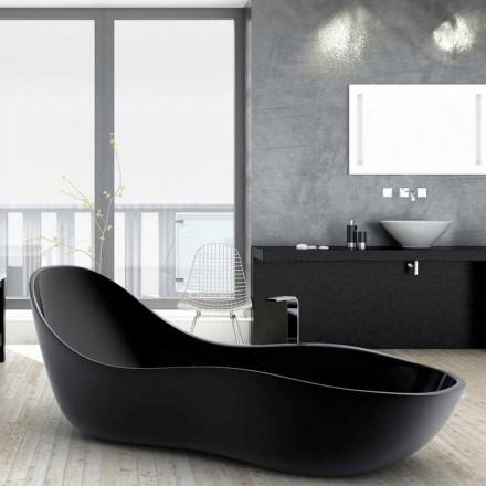 Bañera freestanding lacada de diseño moderno modelo Wave