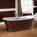 Baño con cuero de hierro fundido cubierta exterior Elsie