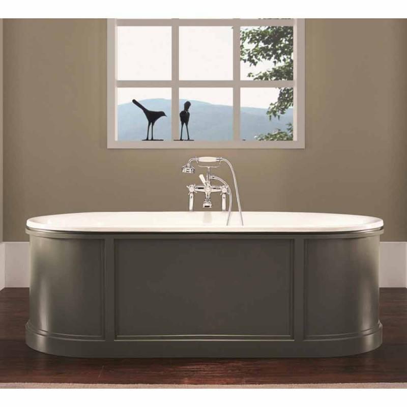 Bañera de hierro fundido esmaltado y pintado Ashley