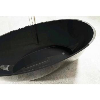 Bañera de diseño óvalo autoportante hecha en Italia Fabriano