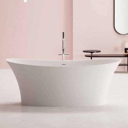 Bañera independiente de diseño, diseño en superficie sólida - Look