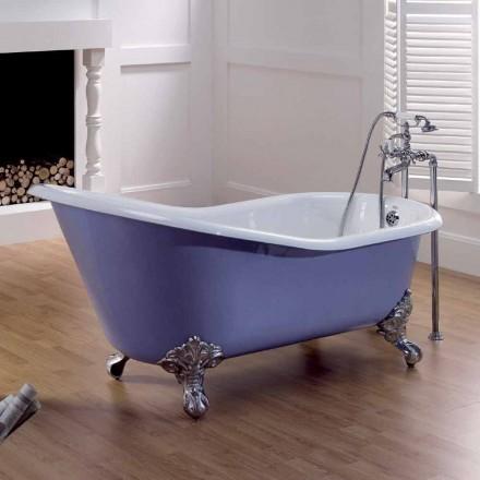 diseño pintado bañera de hierro fundido con pies decorados Carrie