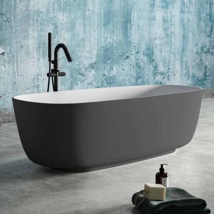 Bañera Independiente Dos colores gris, en superficie sólida - Canossa