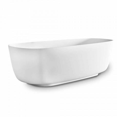 Bañera independiente de diseño moderno, en superficie sólida - Canossa