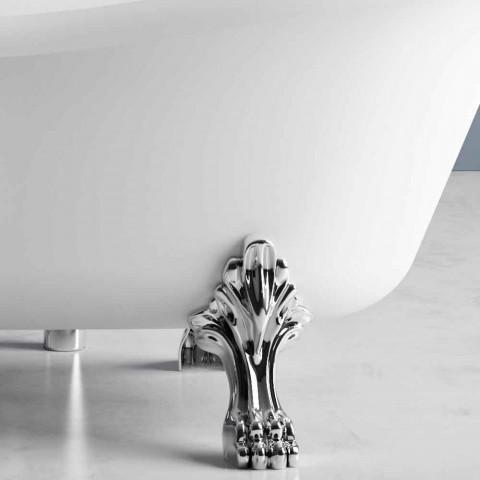 Bañera independiente, diseño victoriano en superficie sólida - Lluvia