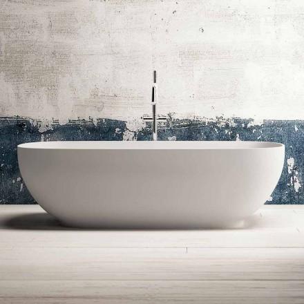 Bañera moderna independiente, diseño en superficie sólida - Enlace