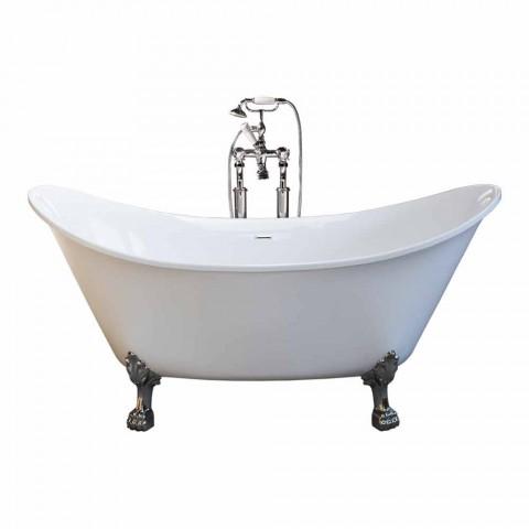 Baño blanco independiente de diseño moderno 173x75cm Katie