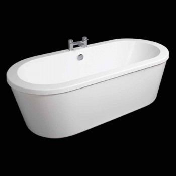 Baño moderno independiente blanco abril 1800x830 mm
