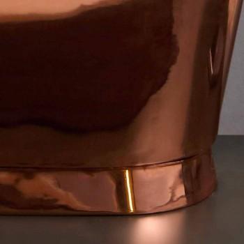 diseño baño independiente níquel y cobre Angelica