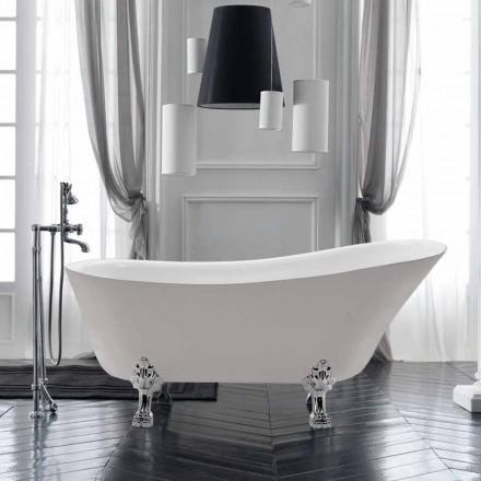 Independiente de diseño en el baño de verano blanco acrílico 1700x720 mm