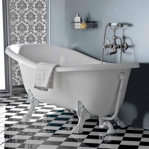 Bañera independiente de acrílico estilo vintage, Made in Italy - Tabea