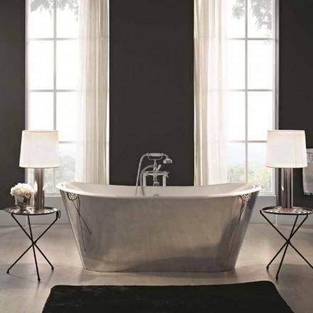 baño independiente chapado en acero hierro fundido externamente Sharon