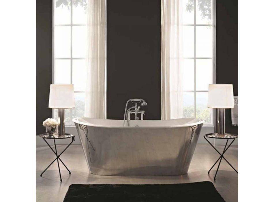 bañera independiente chapado en acero fundido externamente Sharon