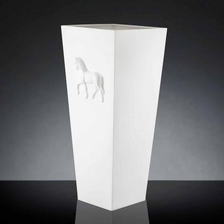 Jarrón de cubo de diseño moderno 100% Made in Italy Cody