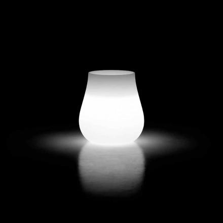 Jarrón colgante de diseño luminoso para exteriores en polietileno Made in Italy - Monita