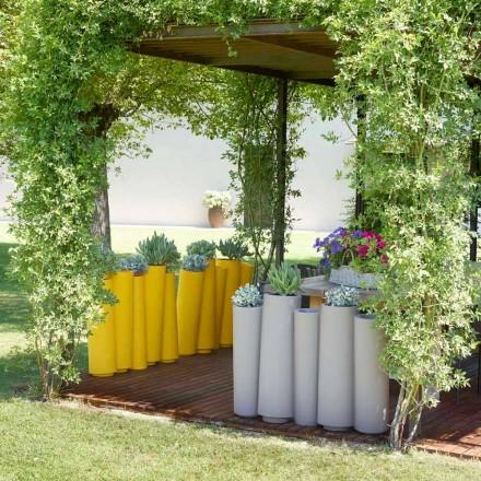 Jarrón decorativo de exterior Slide Bamboo de diseño moderno hecho en Italia