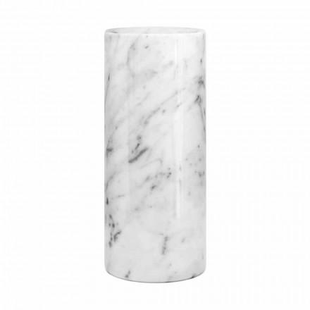 Jarrón decorativo de mármol blanco de Carrara Made in Italy Design - Nevea
