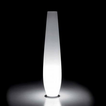 Jarrón luminoso para exterior con luz LED en polietileno Made in Italy - Nadai