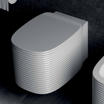 Jarrón colgante de diseño moderno en cerámica hecho en Italia, Amleto