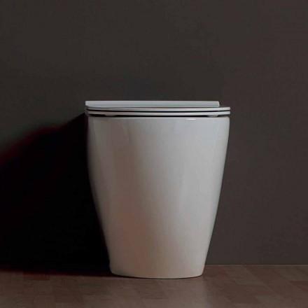 Inodoro de cerámica blanco moderno Shine Square Rimless hecho en Italia