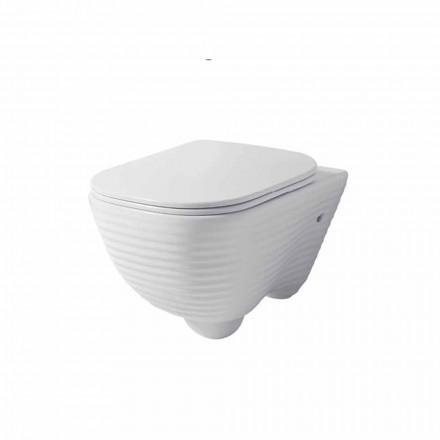 Inodoro moderno suspendido en ceramica blanca o coloreada Trabia