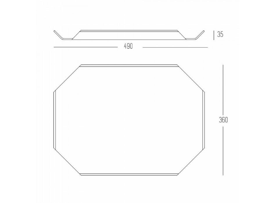 Tabla de cortar para bandeja de cocina en Corian blanco elegante diseño rectangular - Ivanova