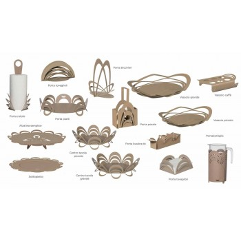 Bandeja pequeña con diseño moderno hecho a mano, Made in Italy - Futti