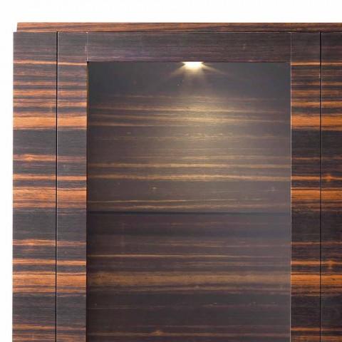Vitrina de madera maciza Grilli Zarafa de 2 puertas, hecha en Italia de diseño